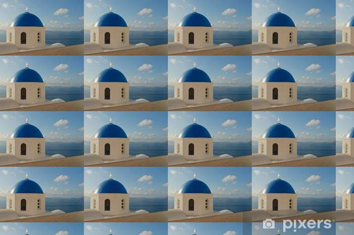 Carta da parati in vinile su misura Chiesa greca di Santorini - Europa