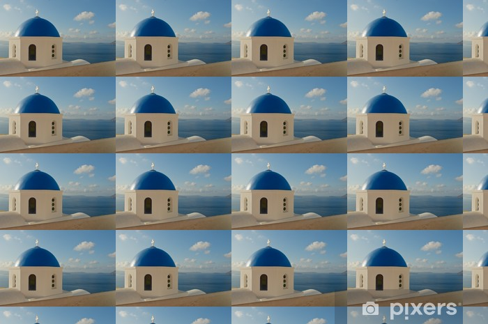 Greek church at Santorini island Vinyl custom-made wallpaper - Europe