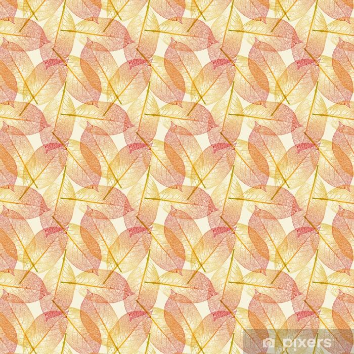 Tapeta na wymiar winylowa Płynnie Dachówka Autumn Leaves wzór - Pory roku