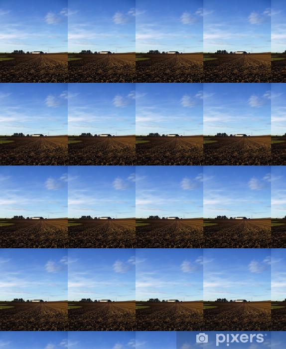 Vinyl behang, op maat gemaakt Geploegde akker - Landbouw