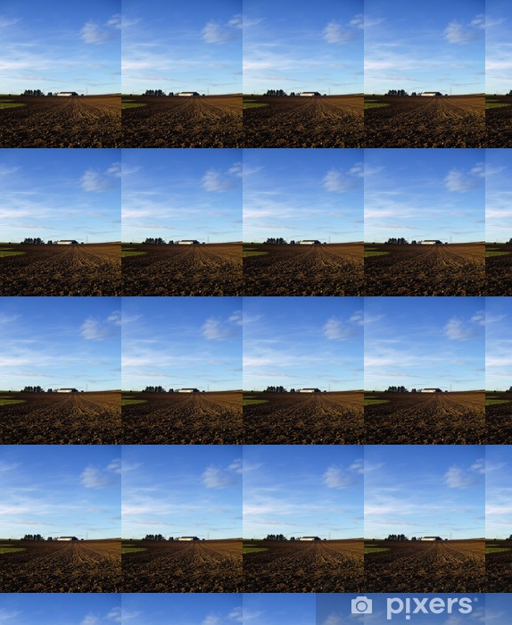 Papel pintado estándar a medida Campo arado - Agricultura