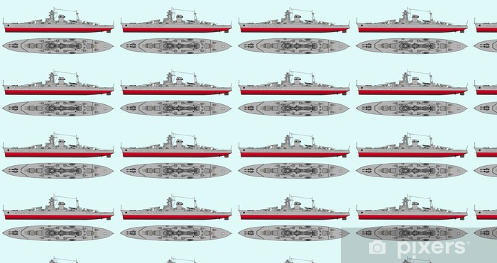Vinyl behang, op maat gemaakt Militair marineschip - Boten