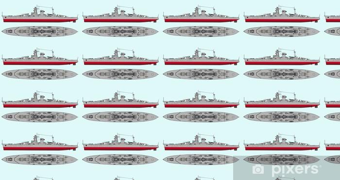 Papier peint vinyle sur mesure Navire de la marine militaire - Bateaux