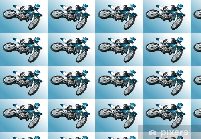 Tapeta na wymiar winylowa Sylwetka motocyklista popełnia skoku wzwyż - Koncepcje biznesowe