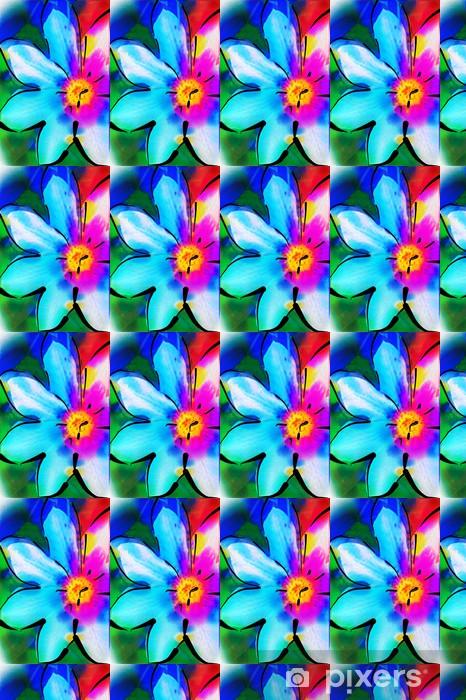 Papier peint vinyle sur mesure Illustration fleur - Art et création