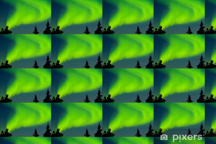 Papier peint vinyle sur mesure Aurora borealis (Northern lights) affichage - Merveilles naturelles