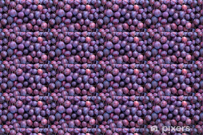 Fruit plums blue Vinyl custom-made wallpaper - Agriculture