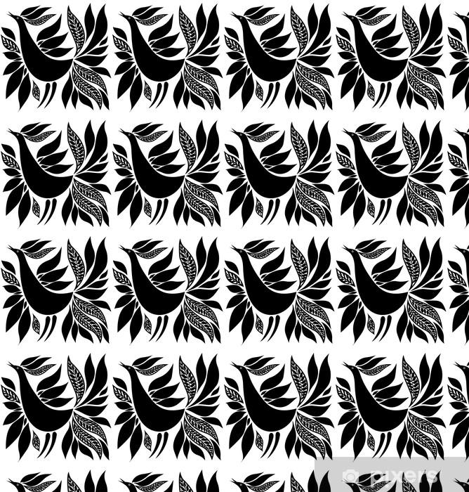 Vinyl behang, op maat gemaakt Vogelsilhouet folk ornament - Thema's