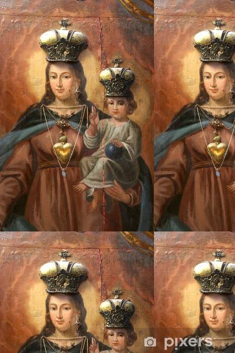 Blessed Virgin Mary With Baby Jesus Wallpaper Vinyl