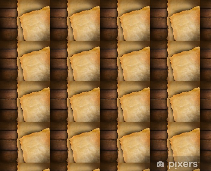 Closeup of parchment paper on wood Vinyl custom-made wallpaper - Backgrounds