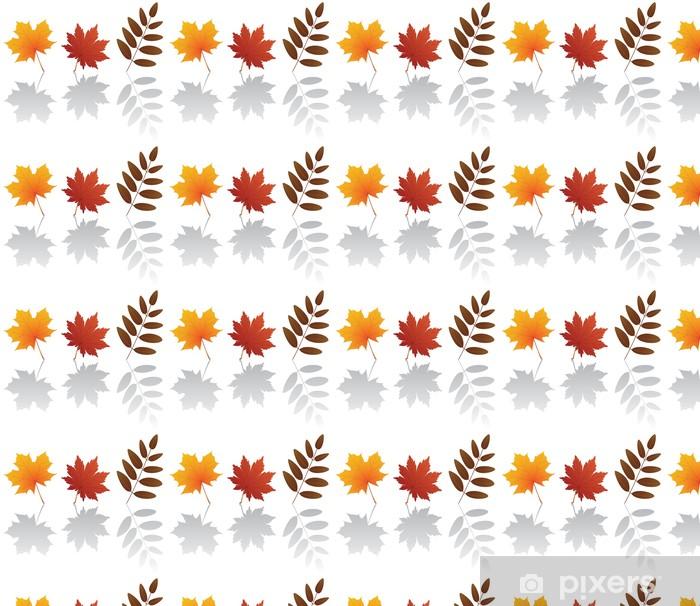 Carta da parati in vinile su misura Vettore autunno le foglie - Stagioni