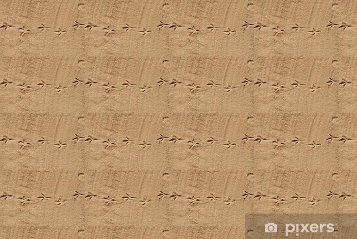 Vinyltapete nach Maß Tracks sind auf Sand 1 - Vögel