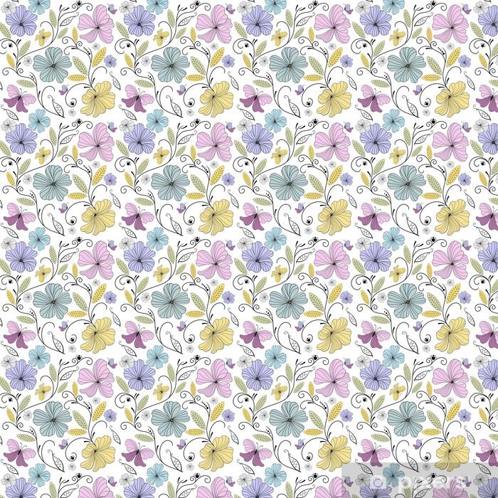 Vinyltapete nach Maß Pastel seamless floral pattern - Hintergründe