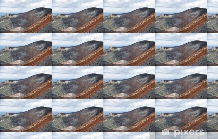 Grand crater Vulcano, Lipari Island, Sicily, Italy Vinyl Custom-made Wallpaper - Mountains