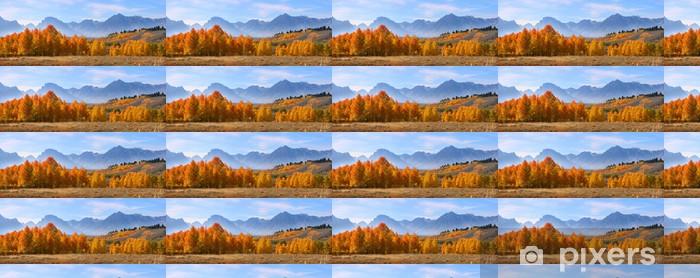 Papier peint vinyle sur mesure Vue panoramique du Grand Tetons gamme nationale de montagne - Saisons