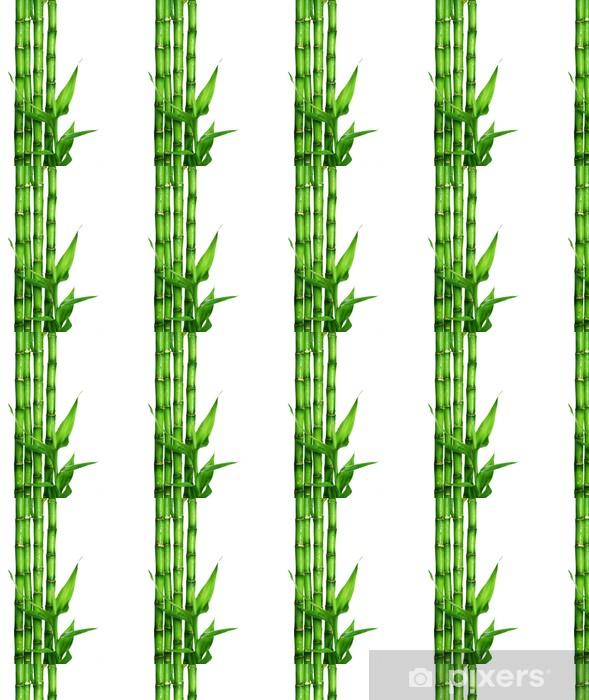 Vinylová tapeta na míru Bamboo přes bílé - Styly