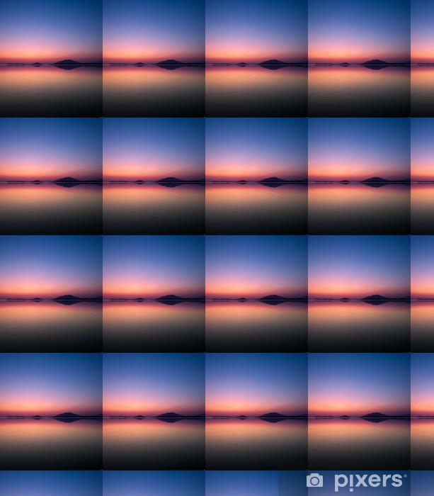 Papier peint vinyle sur mesure Réflexion marin au crépuscule - Eau