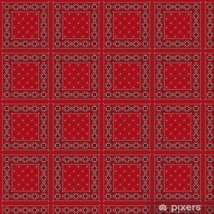 Papier peint vinyle sur mesure Bandana rouge - Mode