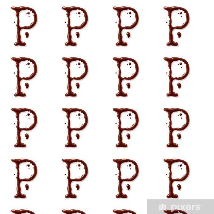 Papier peint vinyle sur mesure Vecteur chocolat lettre - Signes et symboles
