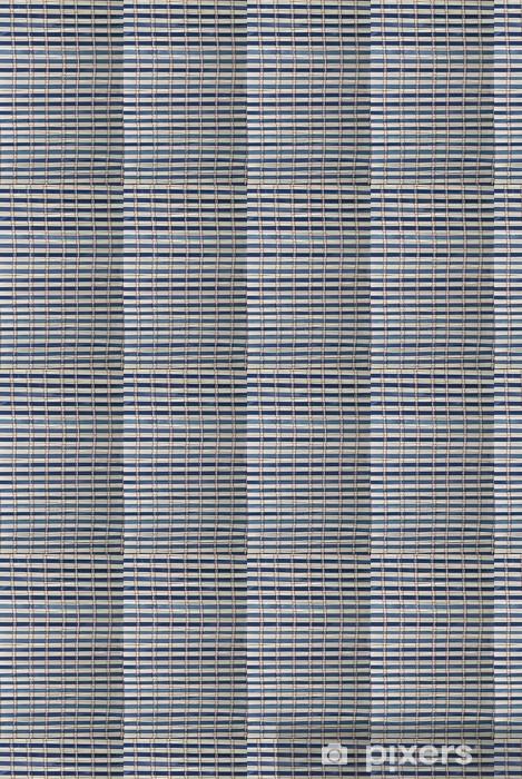 Papier peint vinyle sur mesure Texture d'une natte de bambou bleu. - Magasins