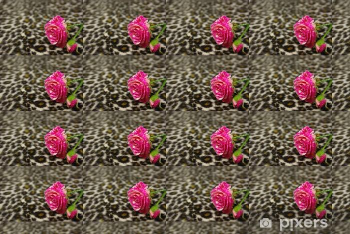 Pink rose Personlige vinyltapet - Teksturer