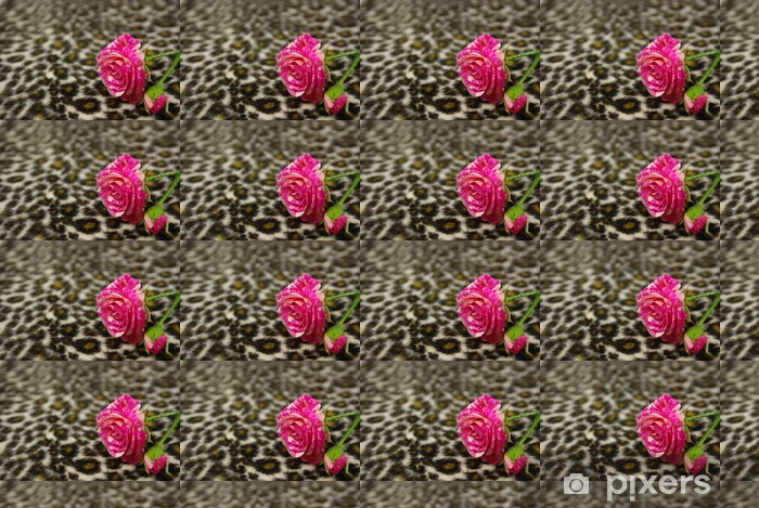 Pink rose Vinyl Custom-made Wallpaper - Textures