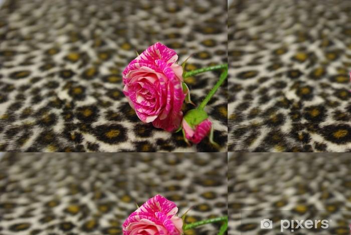 Vinyl Behang Roze roos - Texturen