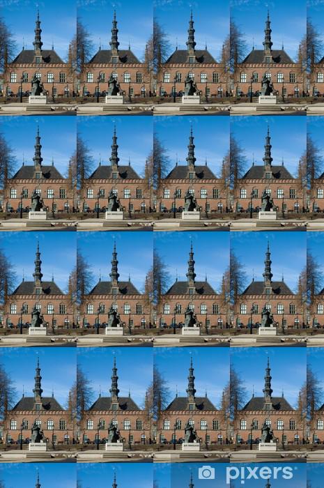 Carta da parati in vinile su misura Monumento Hevelius e vecchia di Danzica municipio - Europa