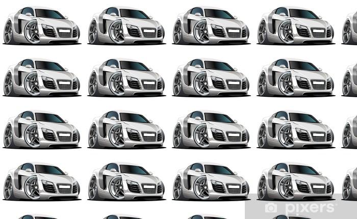 Papier peint vinyle sur mesure Vector cartoon voiture moderne - Sur la route