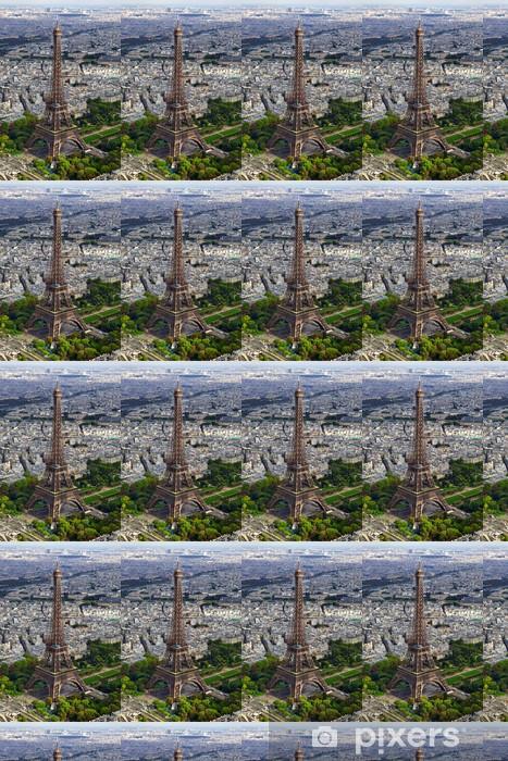 tour eiffel vue aérienne 1 Vinyl Custom-made Wallpaper - European Cities