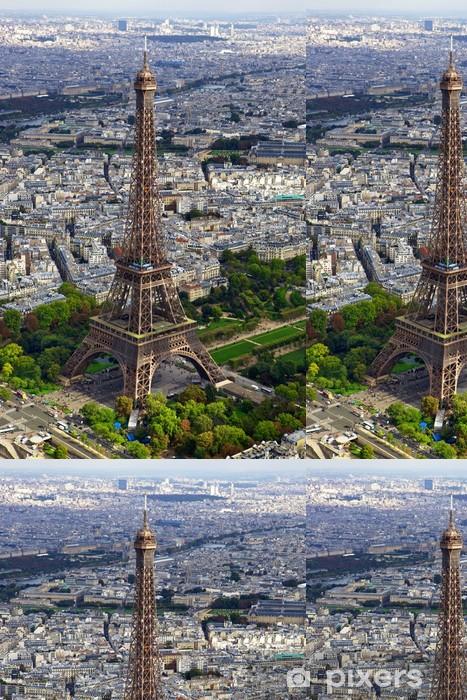 Vinyltapete Eiffelturm Luftbild 1 - Europäische Städte