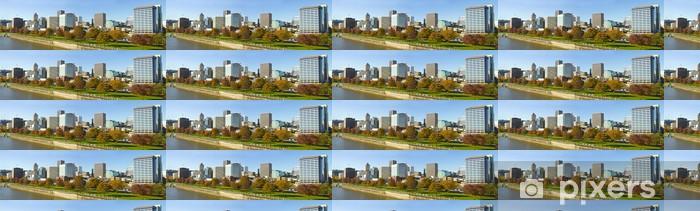 Vinylová tapeta na míru Portland Oregon Downtown Skyline spolu Waterfront Park - Roční období