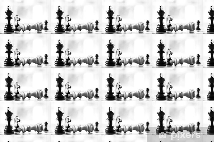 Vinylová tapeta na míru Mat černá porazí bílého krále - Prvky podnikání
