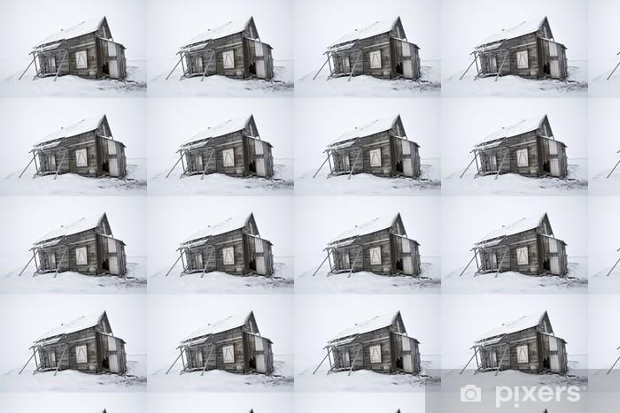 Tapeta na wymiar winylowa Stary opuszczony, drewniany budynek - Biegun Północny i Południowy