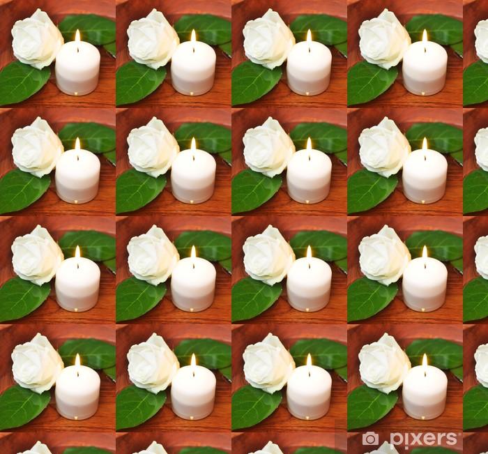 Tapeta na wymiar winylowa Flower, Candle - Dom i ogród