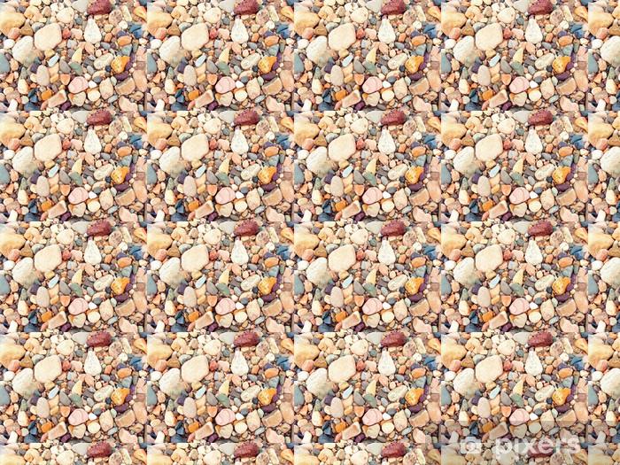 Papel de parede em vinil à sua medida varicoloured river stone and pebble - Texturas