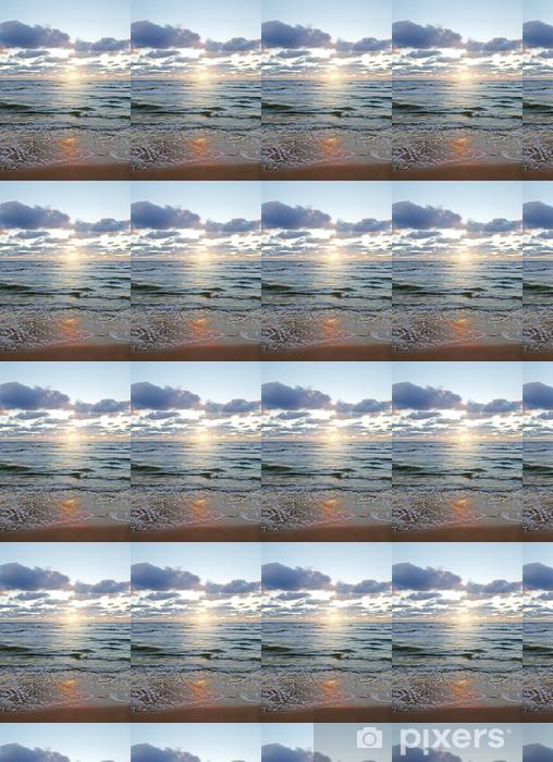 Papier peint vinyle sur mesure Soleil au-dessus de la mer. - Saisons