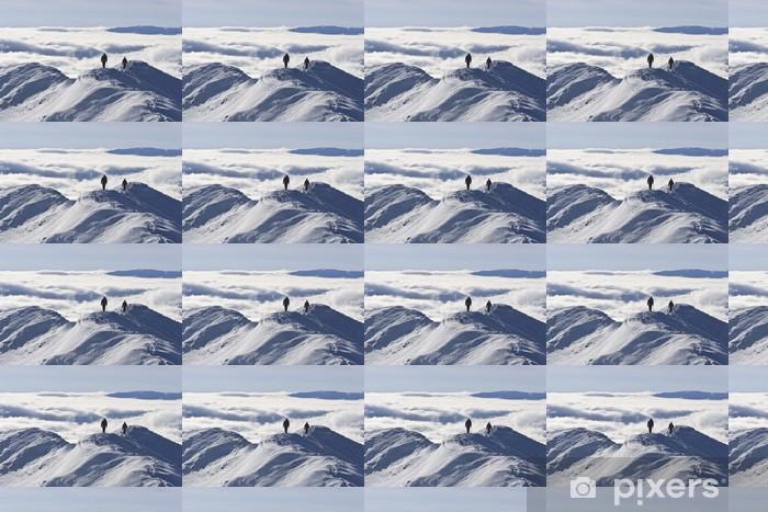 Papier peint vinyle sur mesure Sommet de la montagne en hiver - Montagne
