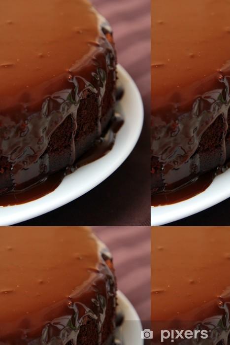 Vinylová Tapeta Velký čokoládový dort s čokoládovou polevou - Sladkosti a dezerty