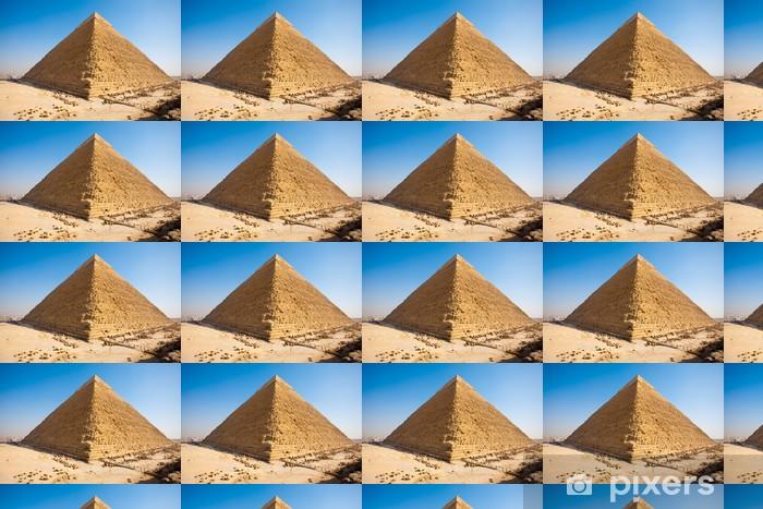 Papier peint vinyle sur mesure Pyramide de Khéphren arrière Gizeh - Afrique