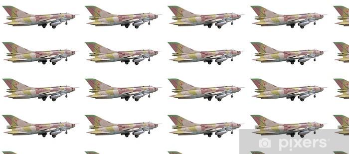 Papel pintado estándar a medida El avión Su-25 aislado en un fondo blanco - Por aire