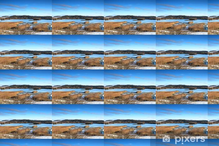 Papier peint vinyle sur mesure Réserve naturelle d'Attenborough en hiver, attenborough - Eau
