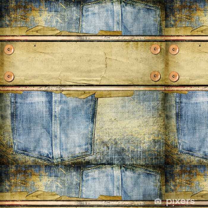 Vinylová Tapeta Vintage jeans pozadí s místem pro text - Struktury