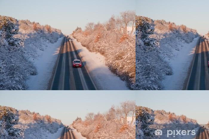Vinylová Tapeta Snow road - Venkov
