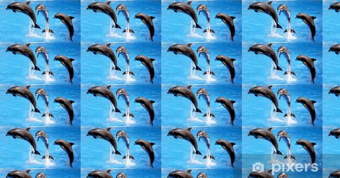 Tapeta na wymiar winylowa Delfin w akrobacji - Tematy