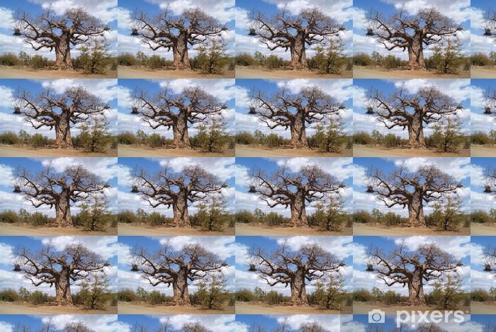 Papier peint vinyle sur mesure Arbre baobab - Afrique