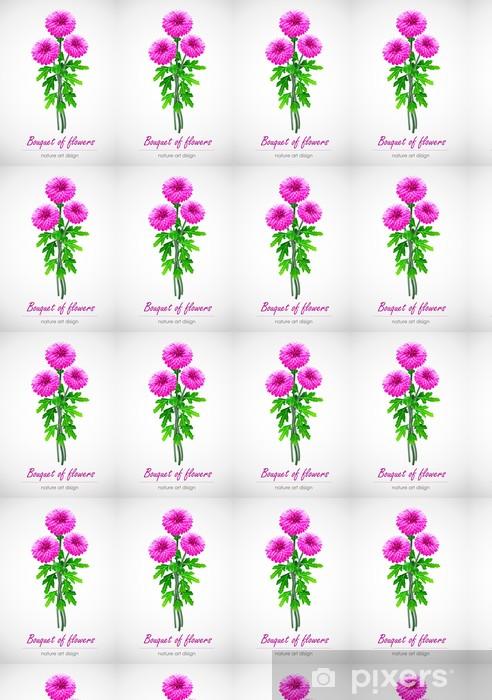 Carta da parati in vinile su misura Mazzo crisantemo texture per carta da parati - Fiori