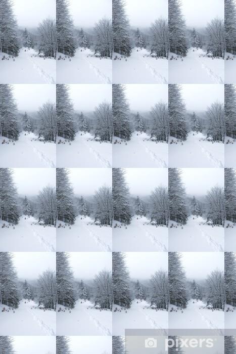 Tapeta na wymiar winylowa Śnieg w górach - Lasy