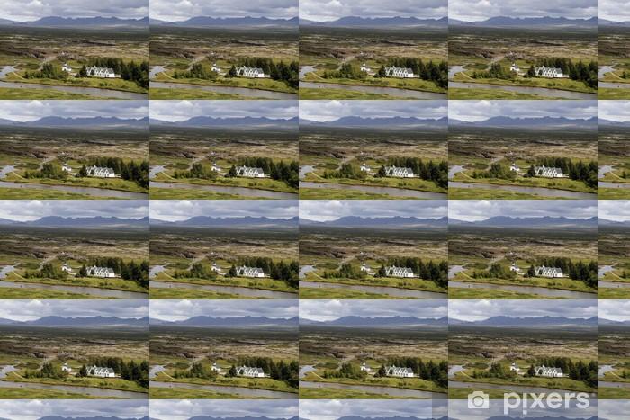 Papier peint vinyle sur mesure Thinvellir paysage parc national en Islande - Europe