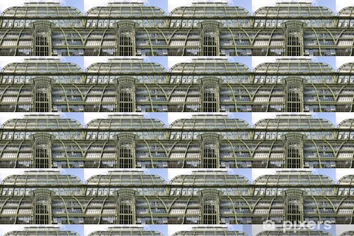 Vinyl behang, op maat gemaakt Stalen constructie van een kas - Zware Industrie
